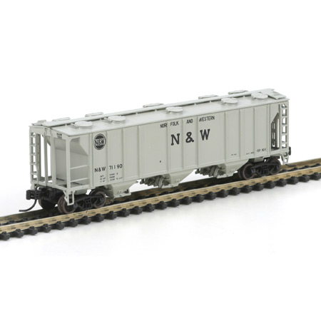 N Scale - Athearn - 11266 - Covered Hopper, 3-Bay, PS2 2893 - Norfolk & Western - 71190