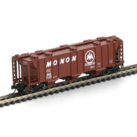 N Scale - Athearn - 11361 - Covered Hopper, 3-Bay, PS2 2893 - Monon - 4413