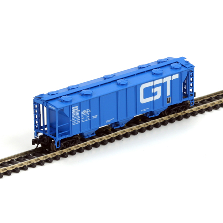 N Scale - Athearn - 11375 - Covered Hopper, 3-Bay, PS2 2893 - Grand Trunk Western - 113894