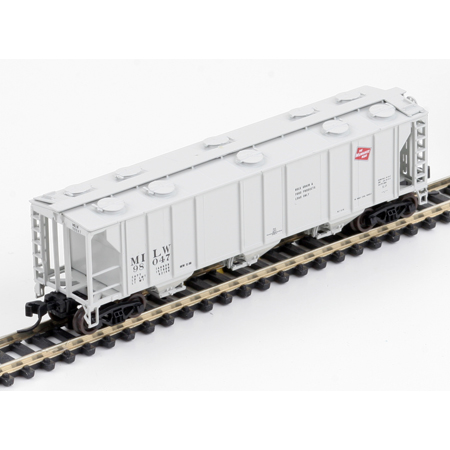 N Scale - Athearn - 11391 - Covered Hopper, 3-Bay, PS2 2893 - Milwaukee Road - 98047