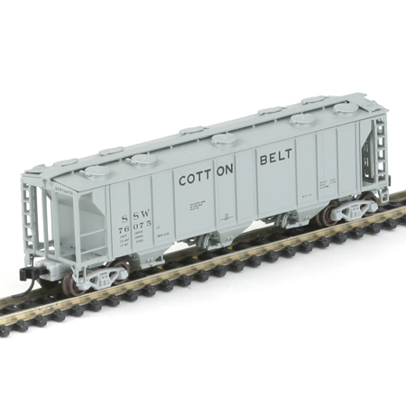 N Scale - Athearn - 11425 - Covered Hopper, 3-Bay, PS2 2893 - Cotton Belt - 76075