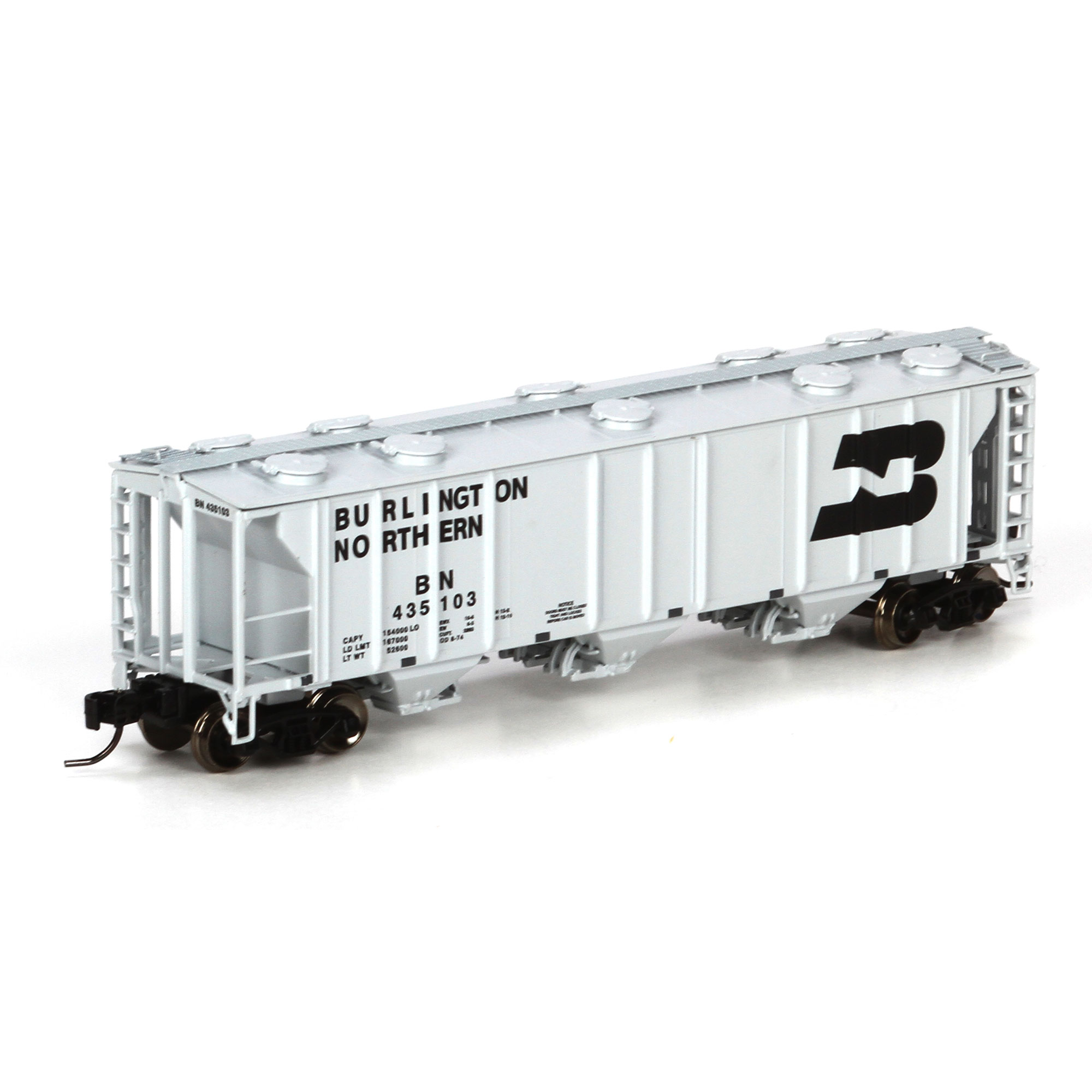 N Scale - Athearn - 23820 - Covered Hopper, 3-Bay, PS2 2893 - Burlington Northern - 435102