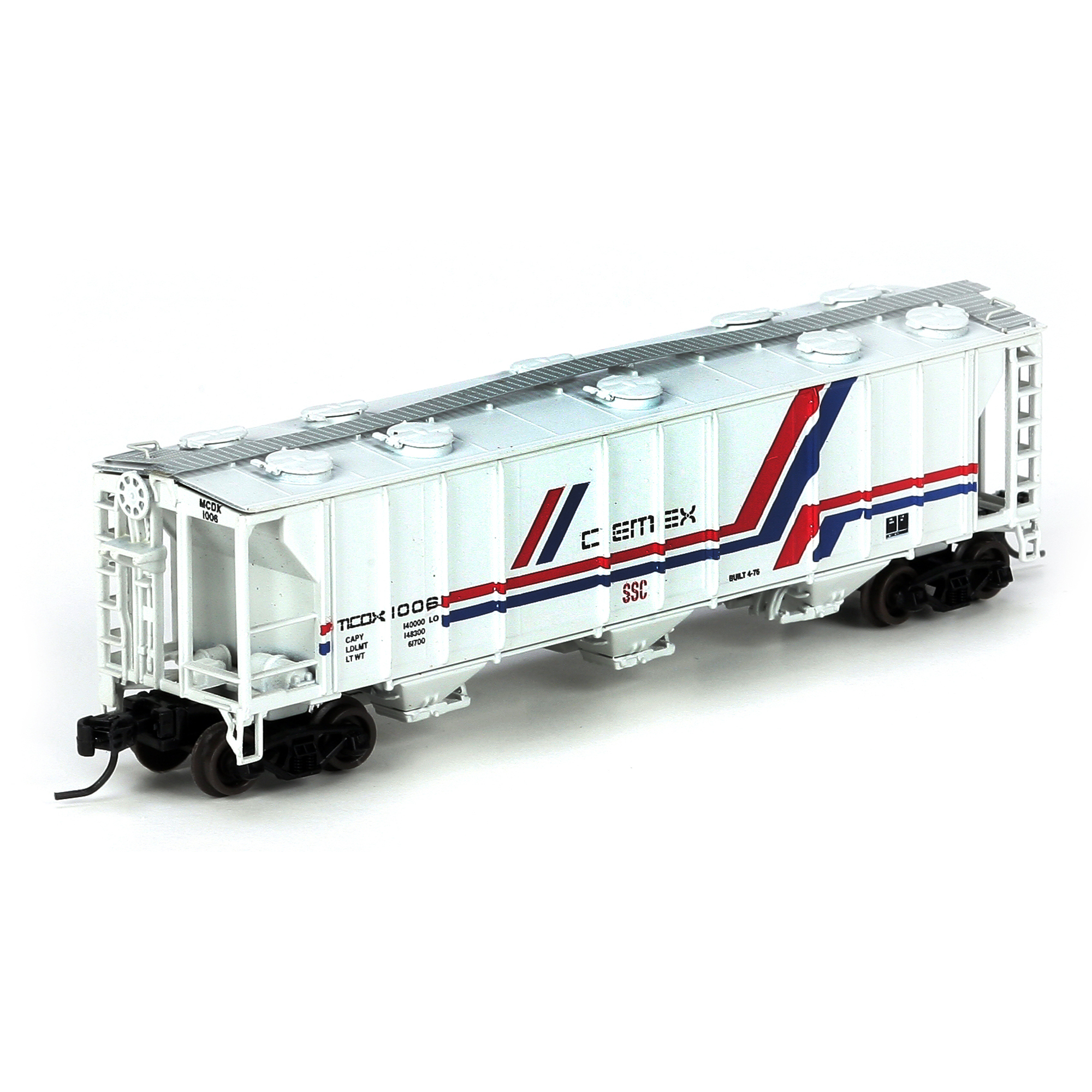N Scale - Athearn - 23827 - Covered Hopper, 3-Bay, PS2 2893 - Cemex - 1006