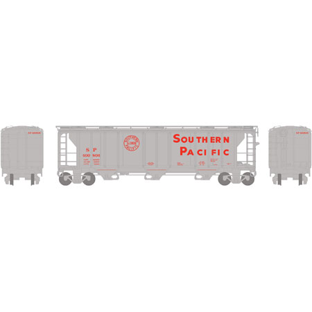 N Scale - Athearn - 23846 - Covered Hopper, 3-Bay, PS2 2893 - Southern Pacific - 400805