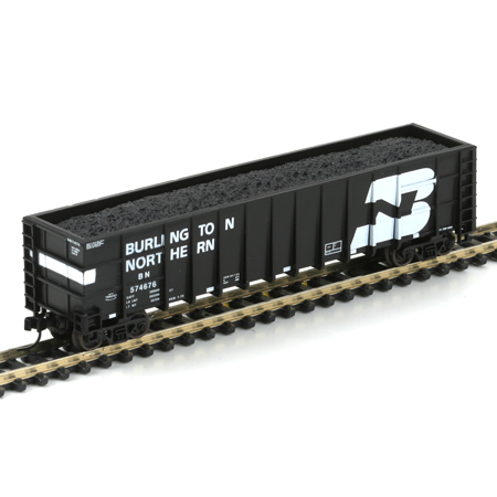 N Scale - Athearn - 11736 - Gondola, 50 Foot, Thrall Hi-Side - Burlington Northern - 5 Road Numbers, Set 3