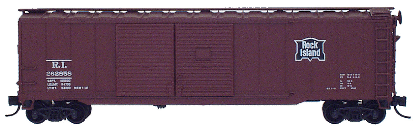 N Scale - InterMountain - 65606-17 - Boxcar, 50 Foot, Steel, Double Door - Rock Island - 262971