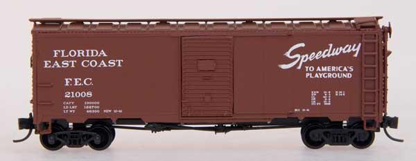 N Scale - InterMountain - 65738-01 - Boxcar, 40 Foot, AAR 1937 - Florida East Coast - 21008