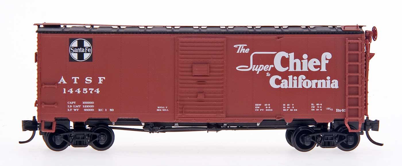 N Scale - InterMountain - 65803-05 - Boxcar, 40 Foot, AAR 1944 - Santa Fe - 144638
