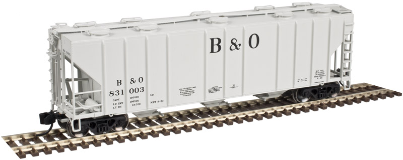 N Scale - Atlas - 50 003 302 - Covered Hopper, 3-Bay, PS-2CD 4000 - Baltimore & Ohio - 831007