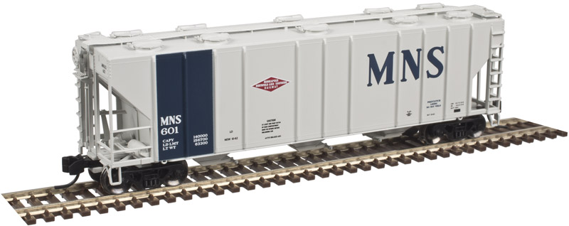 N Scale - Atlas - 50 003 308 - Covered Hopper, 3-Bay, PS-2CD 4000 - Minneapolis, Northfield and Southern - 602