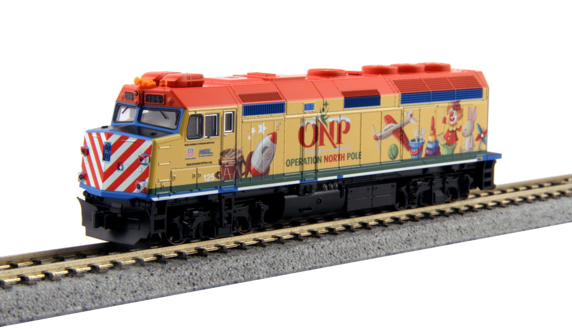 N Scale - Kato USA - 106-2015-A - Locomotive, Diesel, EMD F40PH - Operation North Pole - 125