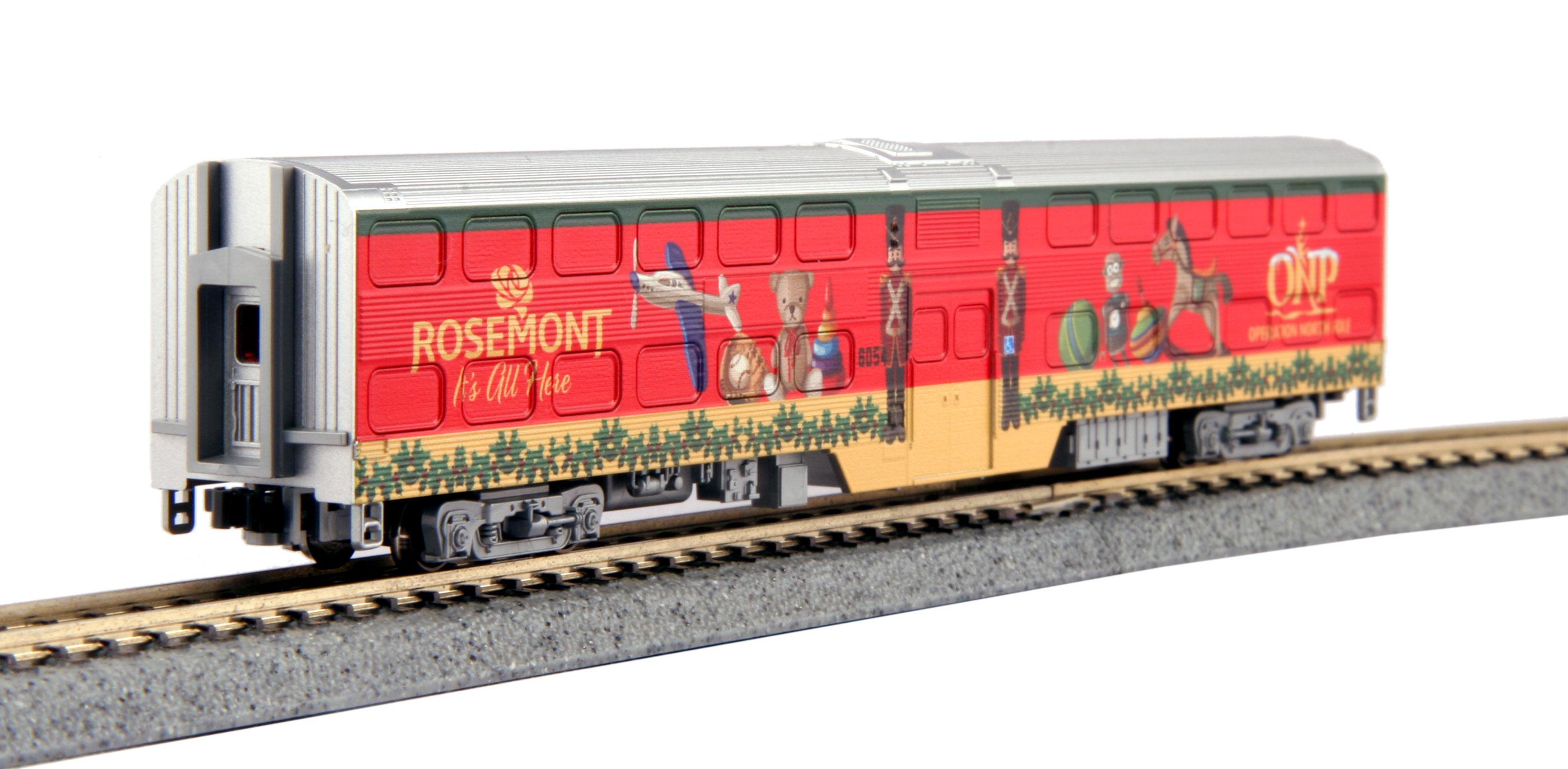 N Scale - Kato USA - 106-2015-B - Passenger Car, Commuter, Nippon Sharyo Gallery - Operation North Pole - Rosemont