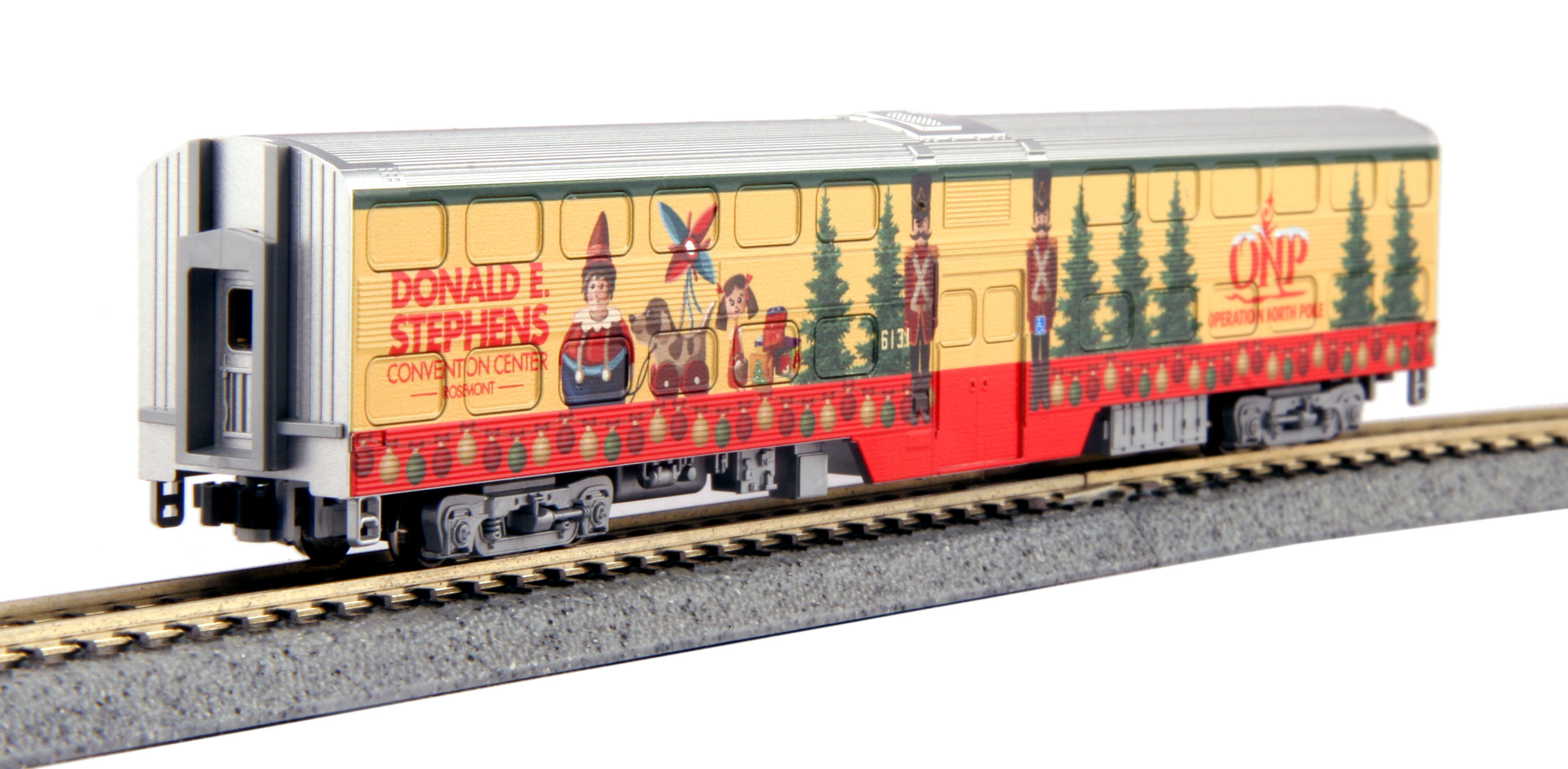N Scale - Kato USA - 106-2015-C - Passenger Car, Commuter, Nippon Sharyo Gallery - Operation North Pole - Donald E. Stephens