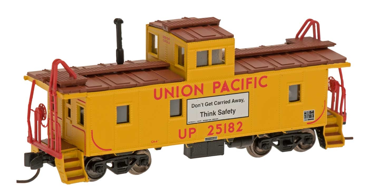 N Scale - Centralia Car Shops - 6065-10 - Caboose, Cupola, Steel - Union Pacific - 25182