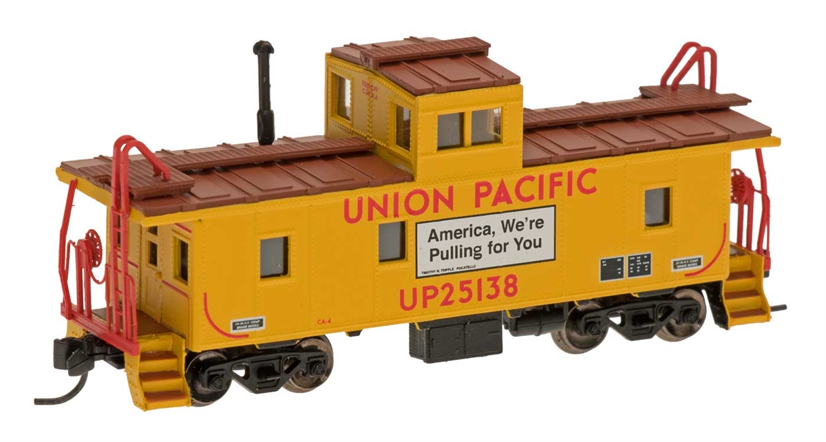 N Scale - Centralia Car Shops - 6065-11 - Caboose, Cupola, Steel - Union Pacific - 25138