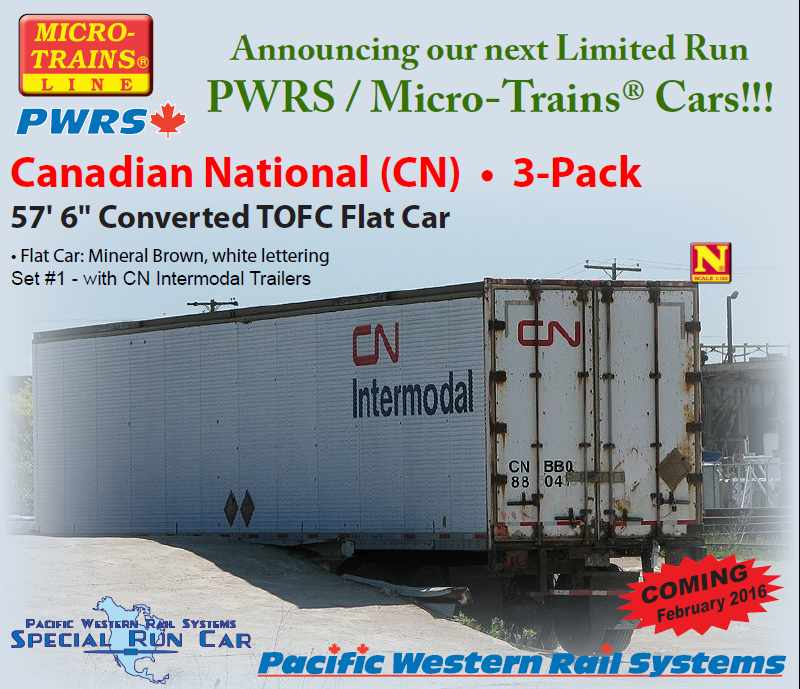 N Scale - Micro-Trains - 452 90 010 - Flatcar, 60 Foot - Canadian National - 687209, 697230, 687218