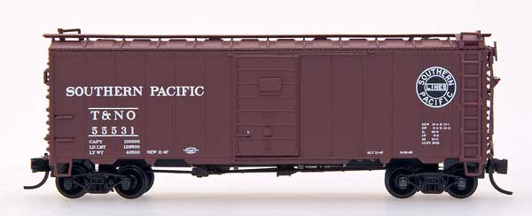 N Scale - InterMountain - 66014-18 - Boxcar, 40 Foot, Steel 12 Panel - Southern Pacific - 55682