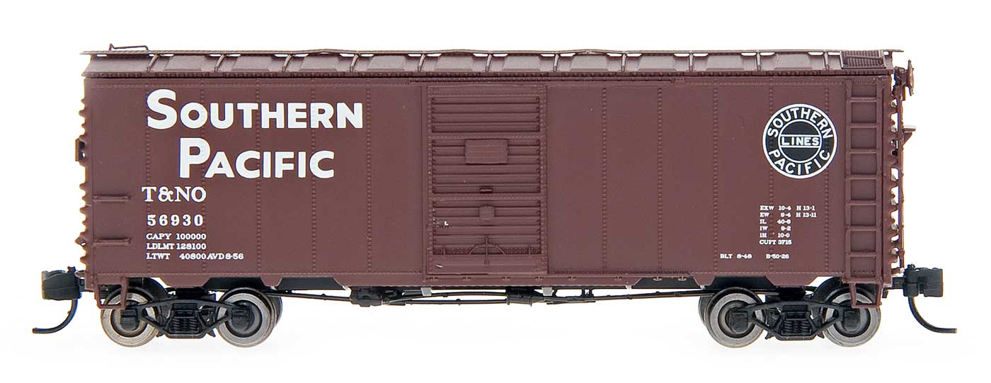 N Scale - InterMountain - 66021-05 - Boxcar, 40 Foot, Steel 12 Panel - Southern Pacific - 57123