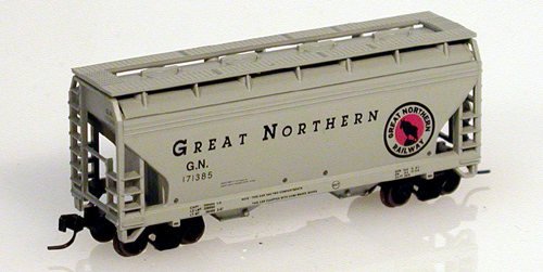 N Scale - Atlas - 39042 - Covered Hopper, 2-Bay, ACF Centerflow - Great Northern - 173856