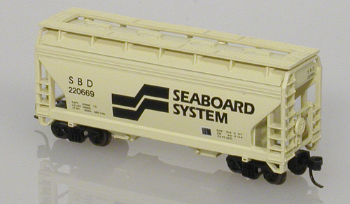 N Scale - Atlas - 39063 - Covered Hopper, 2-Bay, ACF Centerflow - Seaboard System - 220665