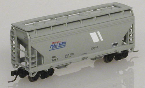 N Scale - Atlas - 39172 - Covered Hopper, 2-Bay, ACF Centerflow - Montana Rail Link - 9083