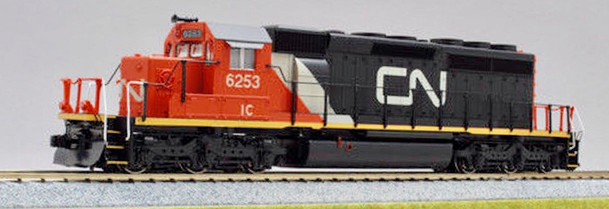 N Scale - Kato USA - 176-4953 - Locomotive, Diesel, EMD SD40-2 - Canadian National - 6253