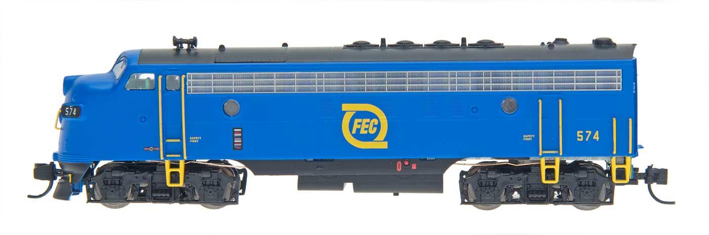 N Scale - InterMountain - 69905-01 - Locomotive, Diesel, EMD F7 - Florida East Coast - 572