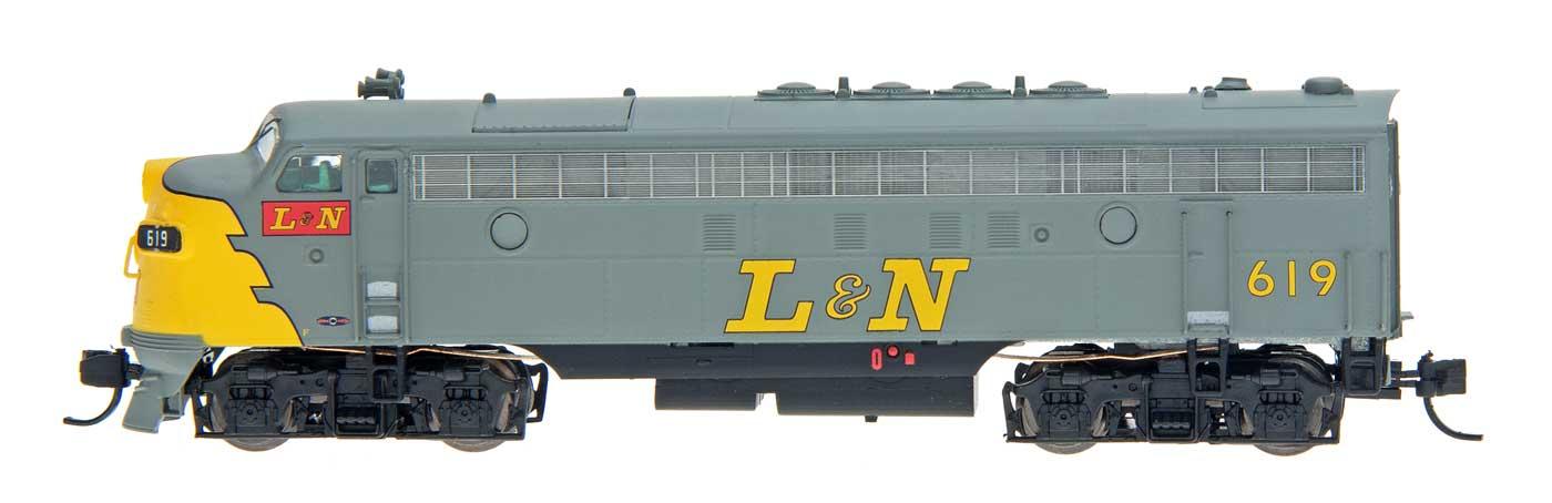 N Scale - InterMountain - 69911-02 - Locomotive, Diesel, EMD F7 - Louisville & Nashville - 619