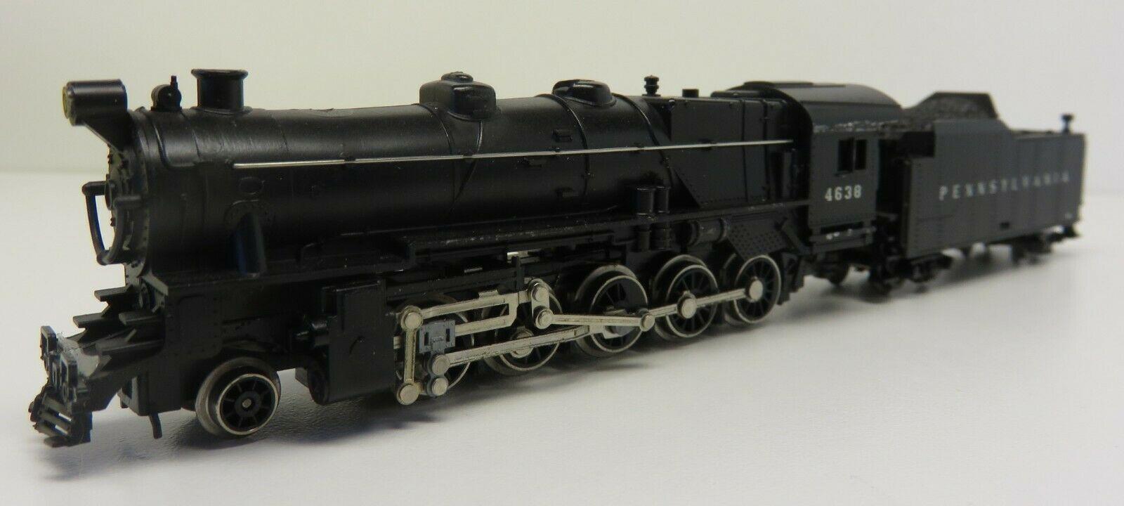 N Scale - Minitrix - 2072 - Locomotive, Steam, 2-10-0 Decapod - Pennsylvania - 4638