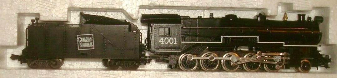 N Scale - Minitrix - 2074 - Locomotive, Steam, 2-10-0 Decapod - Canadian National - 4001