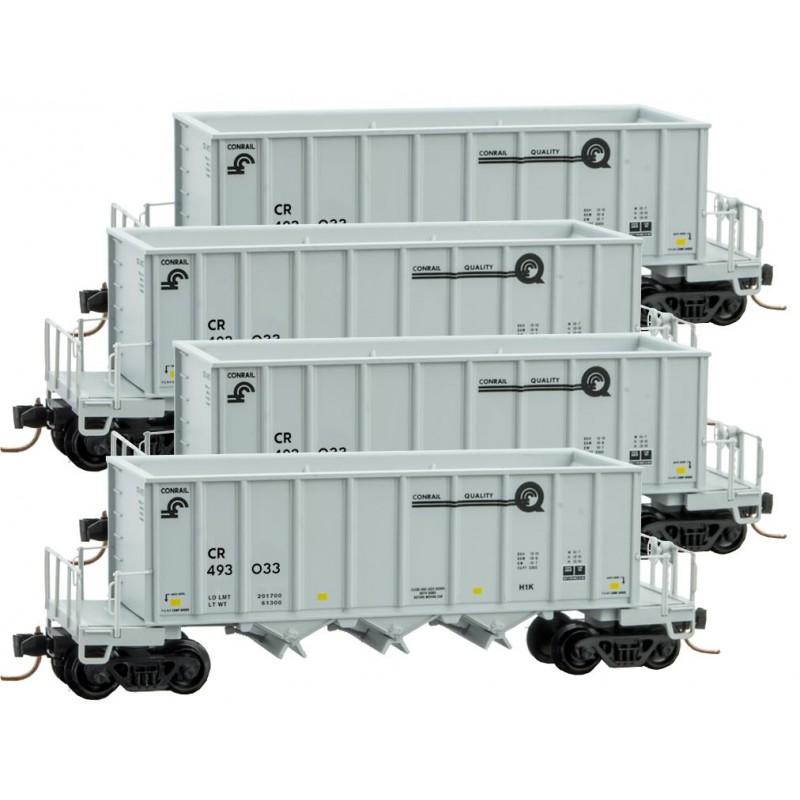 N Scale - Micro-Trains - 993 00 126 - Conrail Ortner Hopper 4-Pack - Conrail - 493033, 493071, 493182, 493197
