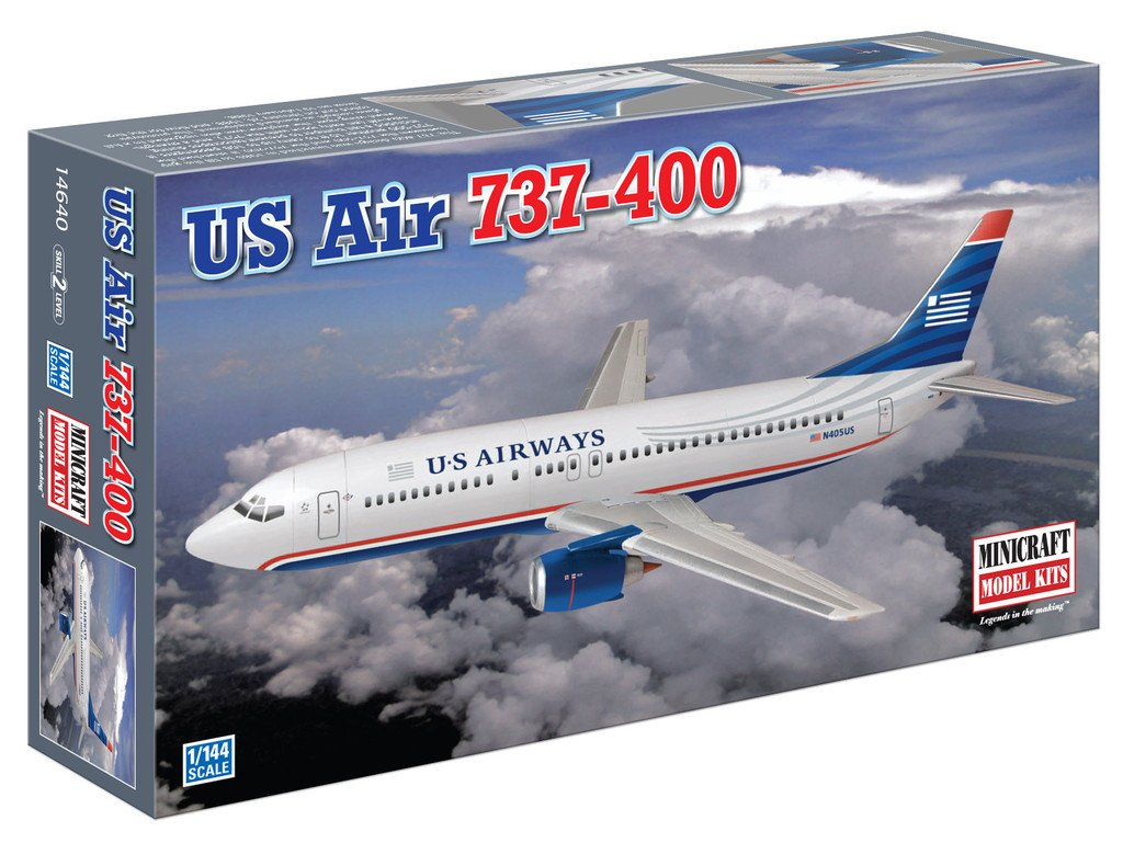 N Scale - Minicraft - 14640 - Vehicle, Aircraft - US Airways