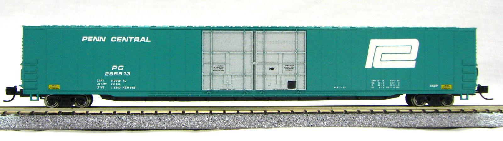 N Scale - Con-Cor - 0001-14662 - Boxcar, 85 or 86 Foot, Auto Parts - Penn Central - 295513
