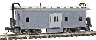 N Scale - Con-Cor - 0001-014120 - Caboose, Bay Window - Undecorated