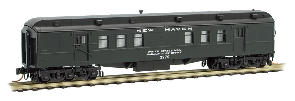 N Scale - Micro-Trains - 140 00 100 - Passenger Car, Heavyweight, Pullman RPO - New Haven - 3270
