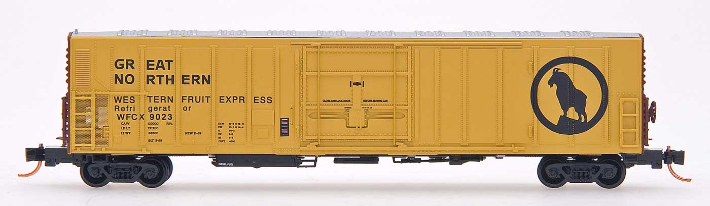 N Scale - InterMountain - 68820-05 - Reefer, 57 Foot, Mechanical, PC&F R-70-20 - Great Northern - 9018