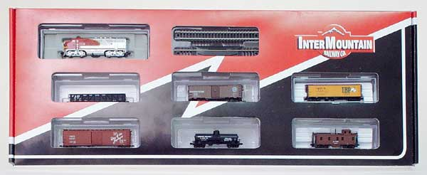 N Scale - InterMountain - 70002-01 - Freight Train Set - Santa Fe - 20
