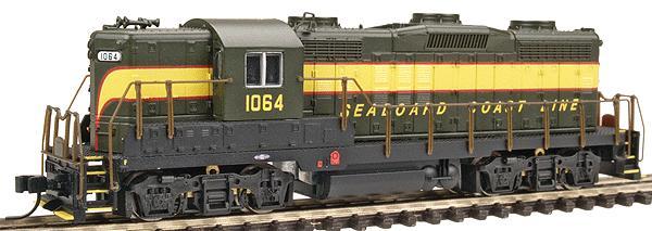 N Scale - Life-Like - 75210 - Locomotive, Diesel, EMD GP18 - Seaboard Coast Line - 1059