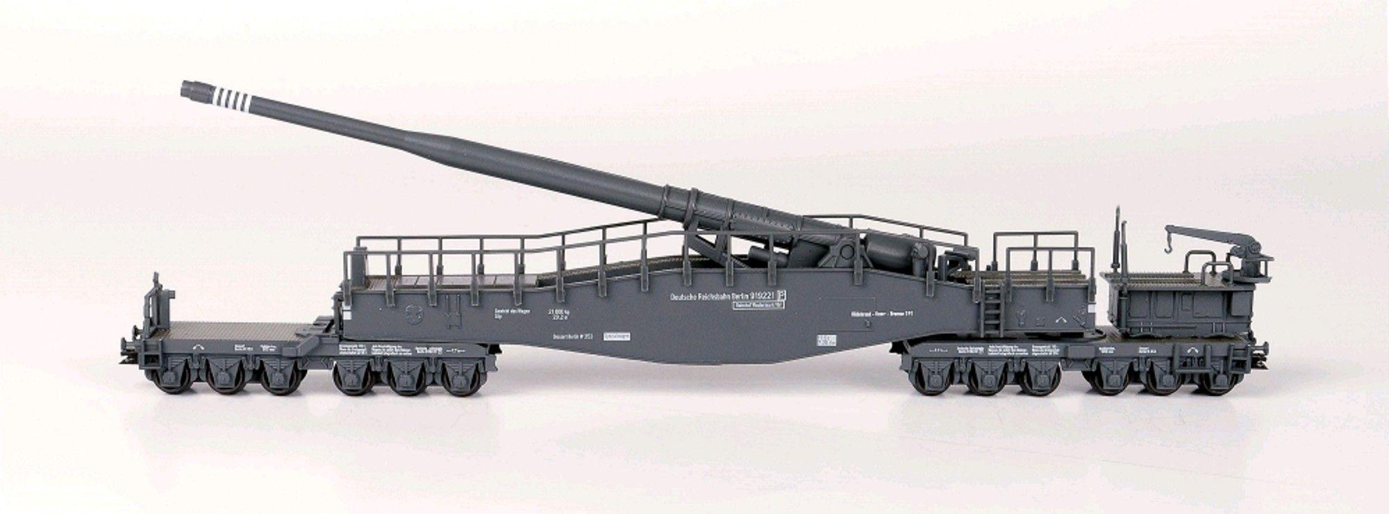 N Scale - Hobbytrain - H23601 - Railway Gun, Krupp K5 - Deutsche Reichsbahn - 919221