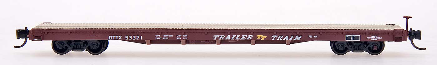N Scale - InterMountain - 66405-12 - Flatcar, 60 Foot - Trailer Train - 93408