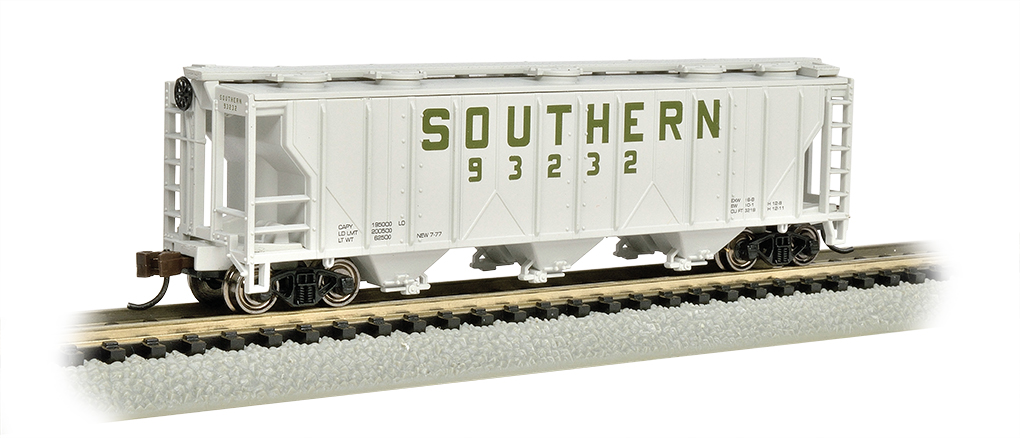 N Scale - Bachmann - 73851 - Covered Hopper, 3-Bay, PS-2 - Southern - 93232