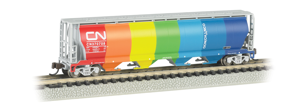 N Scale - Bachmann - 19151 - Covered Hopper, 4-Bay, Cylindrical - Canadian National - 370708