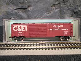 N Scale - Atlas - 2336 - Boxcar, 50 Foot, Steel, Double Door - Chicago & Eastern Illinois - 5038