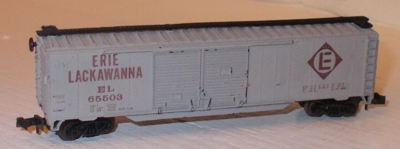 N Scale - Atlas - 2337 - Boxcar, 50 Foot, Steel, Double Door - Erie Lackawanna - 65503