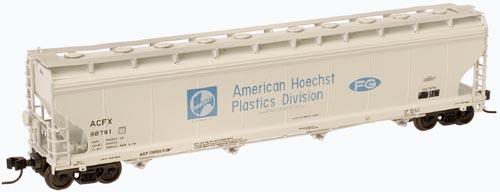 N Scale - Atlas - 50 000 019 - Covered Hopper, 4-Bay, ACF Centerflow - Hoechst - 98791