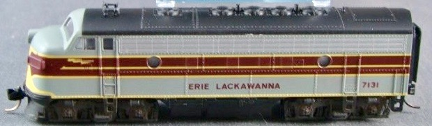 N Scale - Kato USA - 176-0908 - Locomotive, Diesel, EMD F7 - Erie Lackawanna - 7131