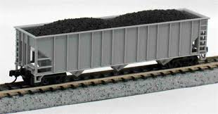 N Scale - Atlas - 3260 - Open Hopper, 3-Bay, 90 Ton - Undecorated - Undecorated