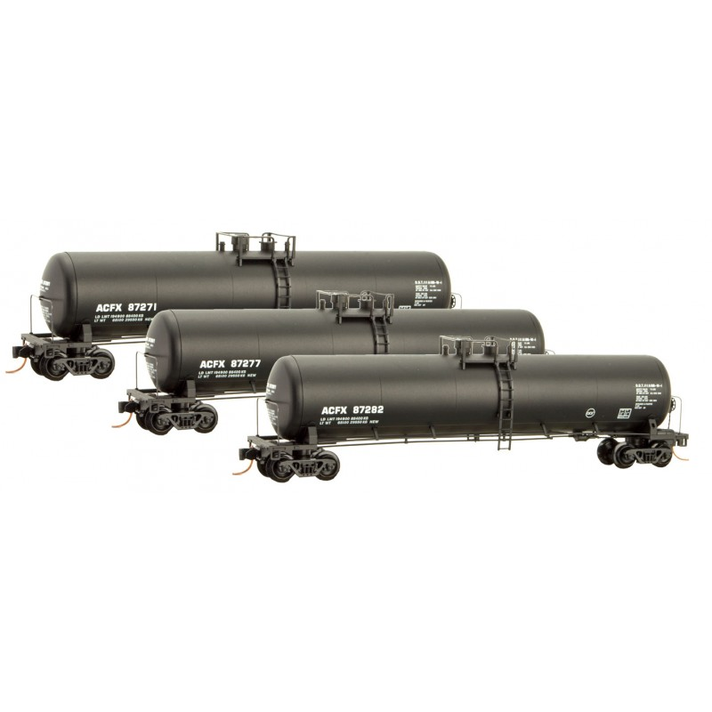 N Scale - Micro-Trains - 993 00 128 - American Car and Foundry Tank Car 3-pack - American Car & Foundry - 87271, 87277, 87282
