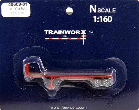 N Scale - Trainworx - 40609-02 - Trailer, Flat Bed, 40 Foot - Louisville & Nashville - 309824