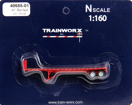 N Scale - Trainworx - 40685-02 - Trailer, Flat Bed, 40 Foot - Florida East Coast - 330075